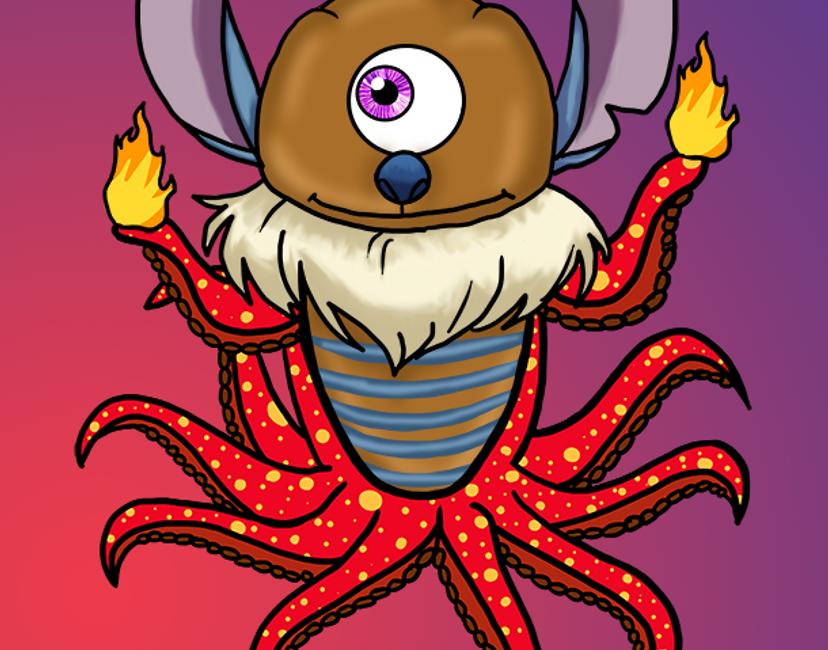 Nft Octo Monster #3